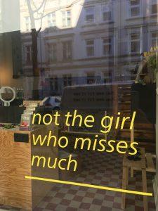 wohlwillstraße 20, Jägerpassage, not the girl, Öffnungszeiten, not the girl who misses much