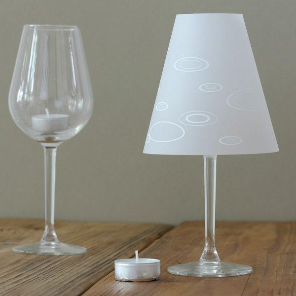 Lampenschirm für Weinglas, kreise, schöne helene, not the girl who misses much