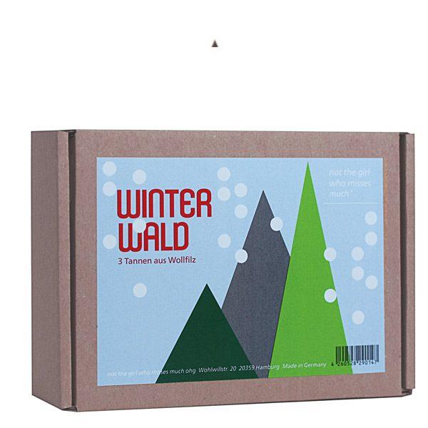 Winterwald, 3-er set, Tannenbaum, notthegirl, filz