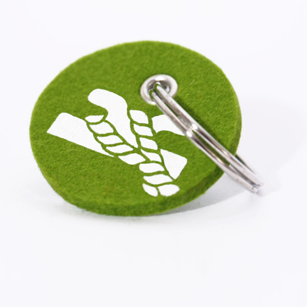 Schlüsselanhänger, filz, rund, bedruckt, poller