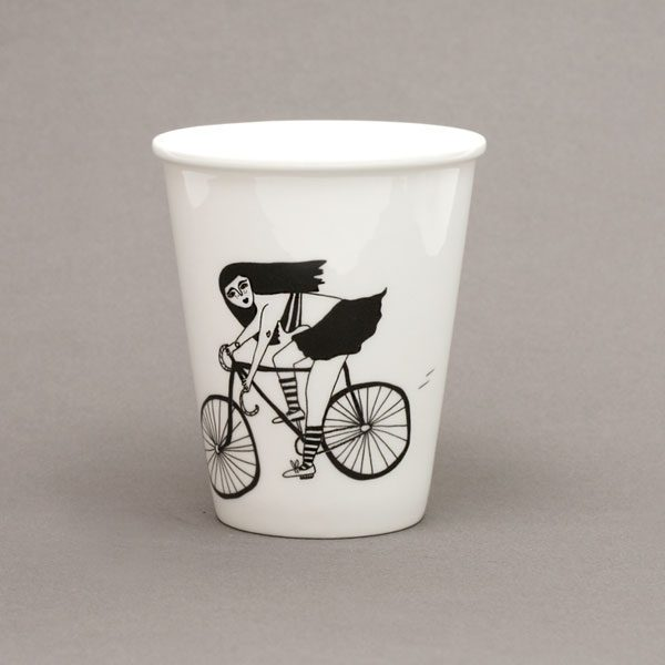 fixie porzellan becher illustration not the girl who misses much