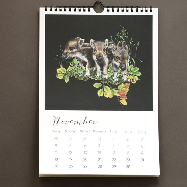 Wandkalender Wildtiere Wald 2019 not the girl who misses much