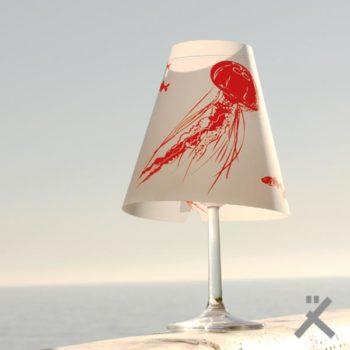 schöne helene lampenschirm weinglas meer qualle