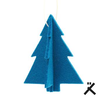 tannenbaum filz anhänger