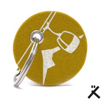 schlüsselanhänger filz bedruckt rund