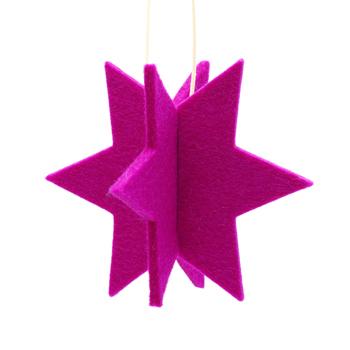stern-filz-anhaenger-pink