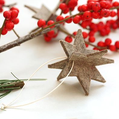 anhaenger filz weihnachten stern