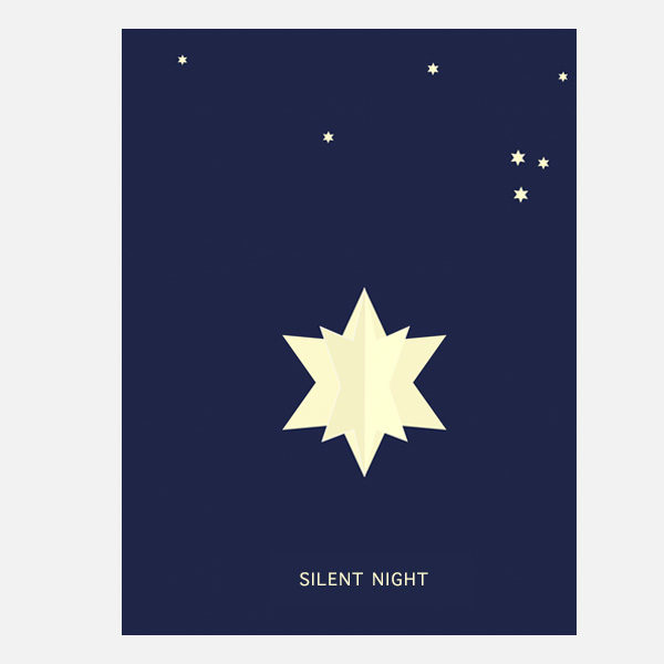 pop up karte silent night not the girl who misses much