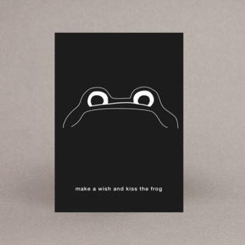 frog wish postkarte