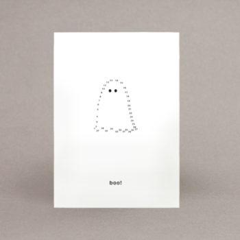 ghost boo postkarte