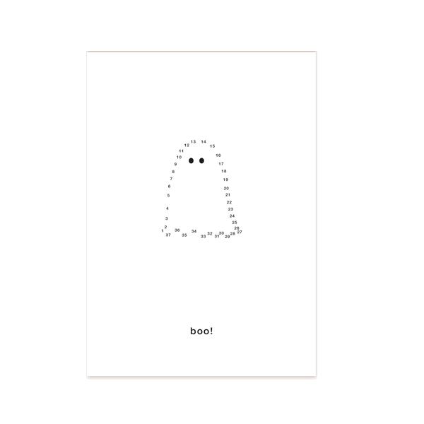 ghost-boo-postkarte