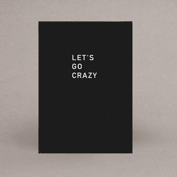 lets go crazy postkarte