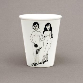 Porzellanbecher Adam und Eva