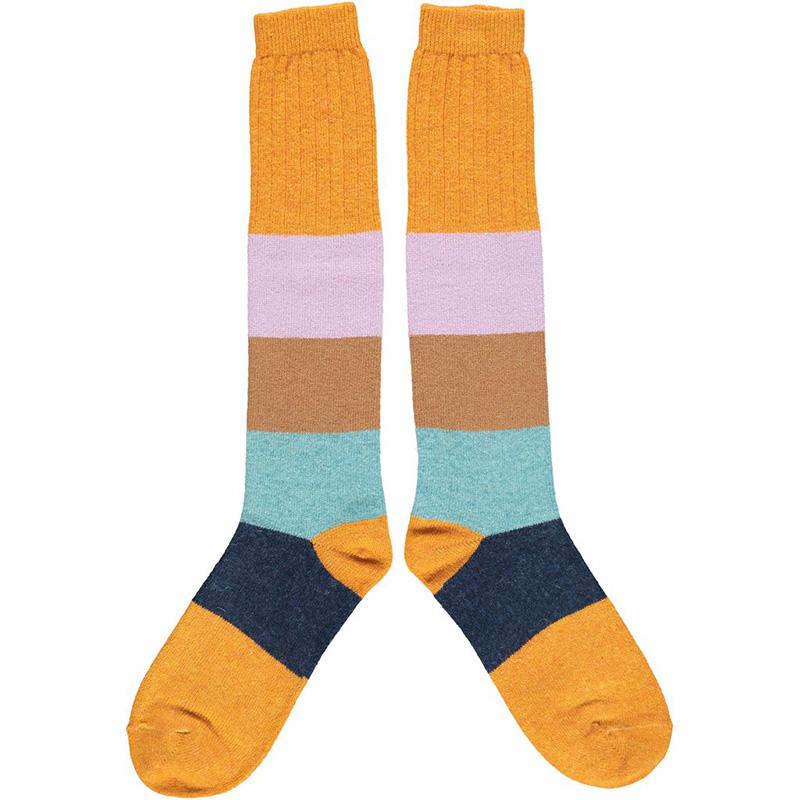 KNEESOCKS-lambswool-ladies-colourblock-ginger