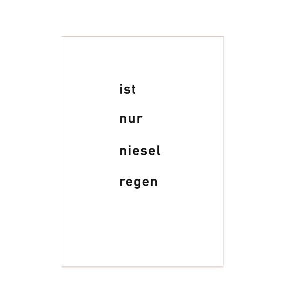 ist-nur-nieselregen-postkarte