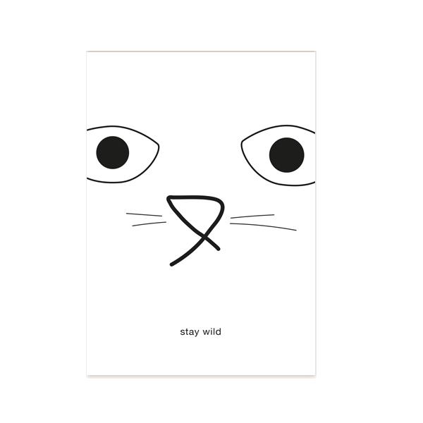 stay-wild-postkarte