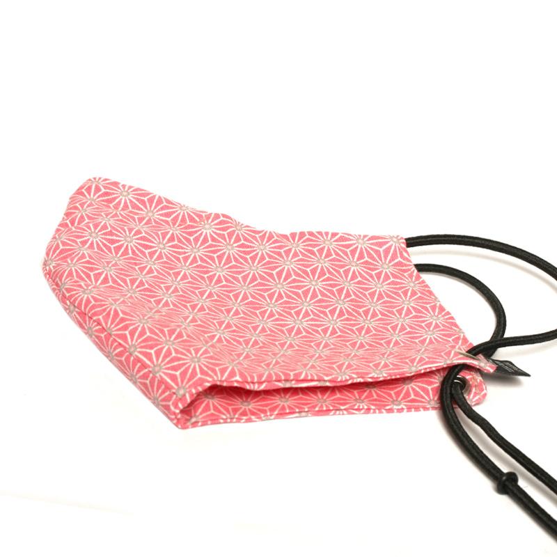maske-japanisches-muster-rosa