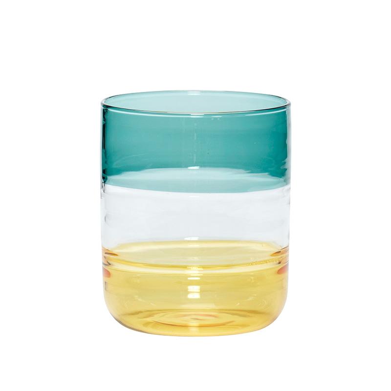 huebsch-trinkglas-gruen-gelb-not the girl who misses much