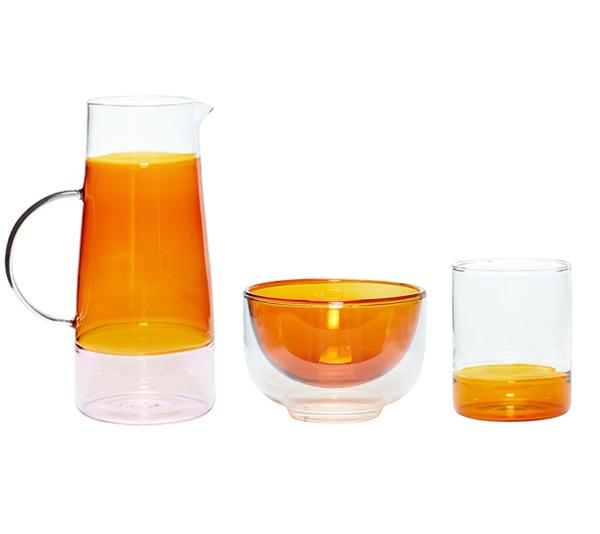 glas-huebsch-karaffe-glas-schale-tablet